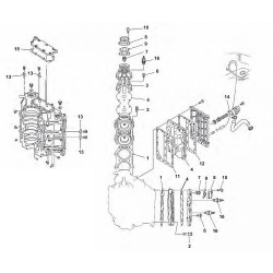 Motorblok Yamaha Buitenboordmotor Onderdelen (2-Takt