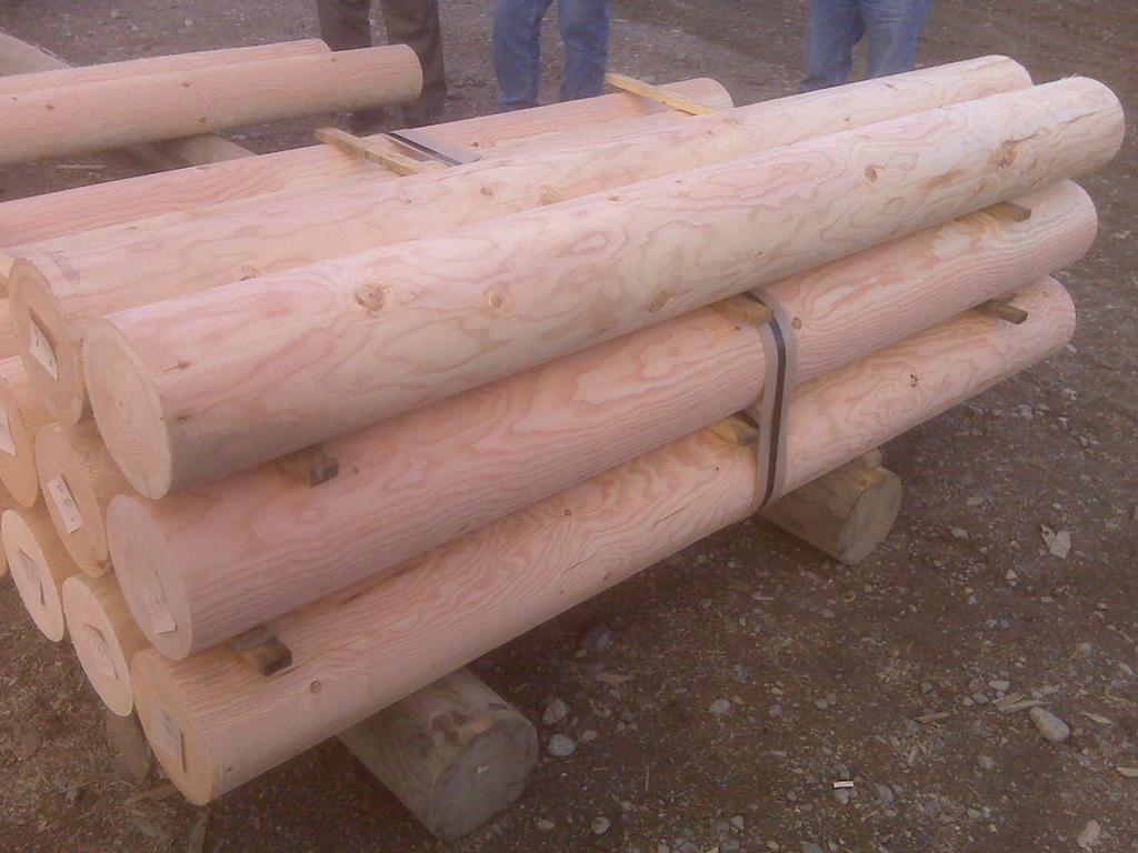 PowerWood Corp Doweled Turned Cedar and Douglas Fir Poles