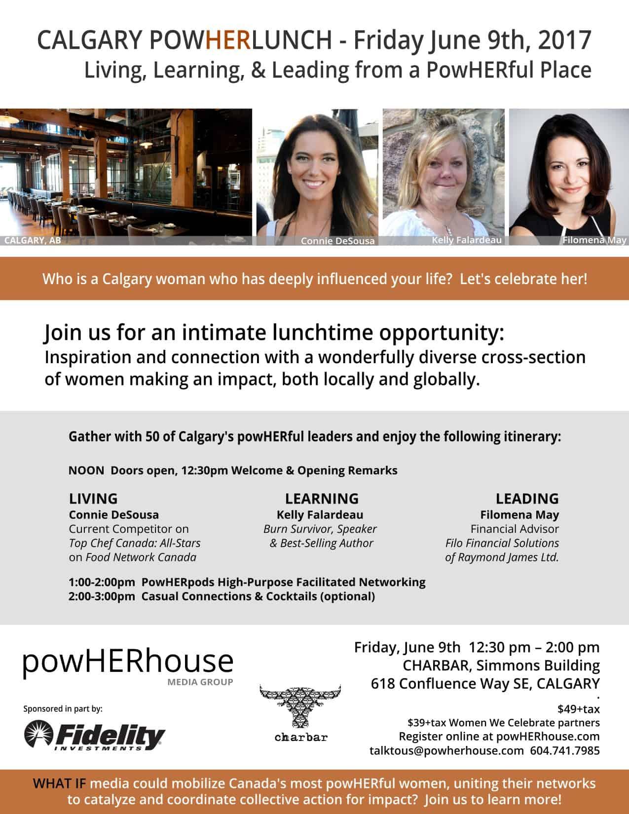PowHERhouse Lunch – Friday June 9 in Calgary