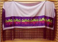 NICE HOMEMADE LIGHT PURPLE RIBBONWORK DESIGN NATIVE