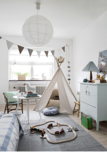 My secret place a teepee in a kids room