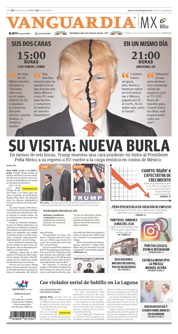 How some Mexican and American newspapers led with Trump's visit to ...