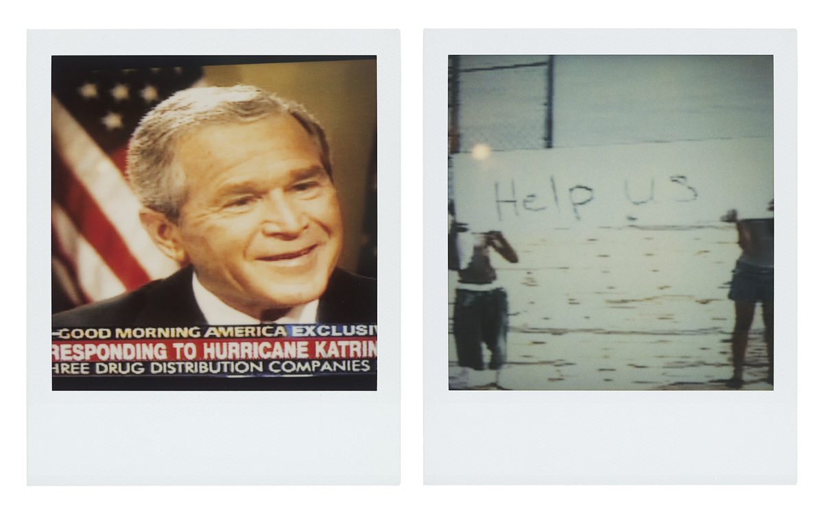 """Bush Smiling, Help Us"" from the series Close to Home, by Catherine Opie."