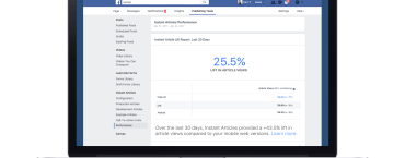 This new Facebook analytics tool lets publishers compare their mobile and Instant Articles traffic