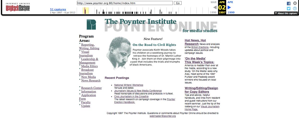 Poynter.org circa 1997.