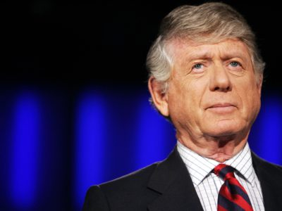 "Former ""Nightline"" anchor Ted Koppel, preparing for the taping of his last broadcast in 2005, at ABC's studio in Washington. (AP Photo/Haraz N. Ghanbari)"