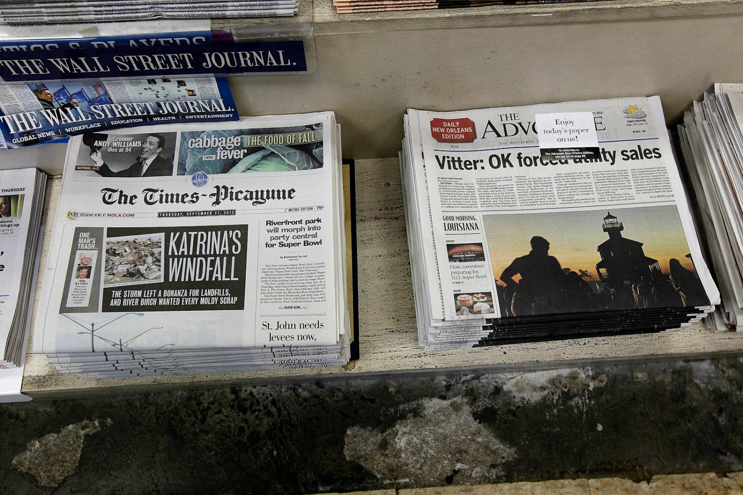 An in-depth look at the newspaper shakeup in New Orleans, plus the San Francisco seizure and free iPads for Arkansas Democrat-Gazette subscribers