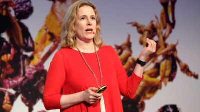 Felicity Carter speaking at MUST Wine Summit. (provided by Felicity Carter)