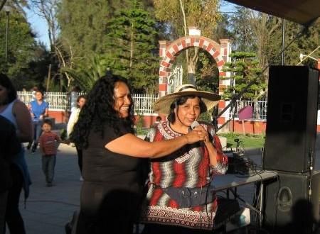 """""""Hoy reiniciamos nuestras actividades en Atenco,  necesitamos de las manos de todos"""" Trinidad Ramírez."""