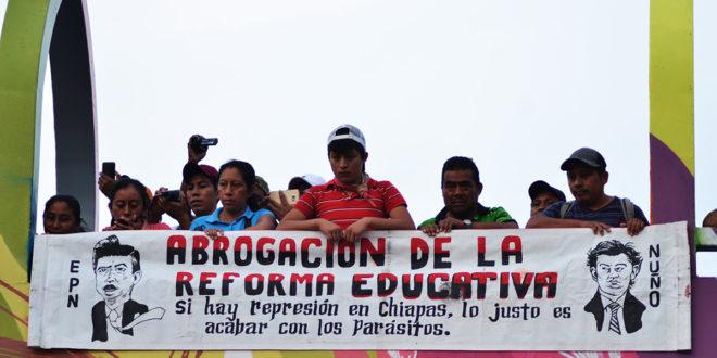 """""""El Estado prepara escenario para reprimir al magisterio"""", alerta la CNTE Chiapas"""