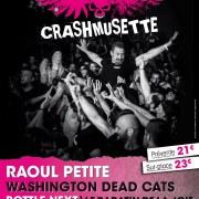 Raoul Petite et Washington Dead Cats seront notamment présents au Printemps du Crashmusette.