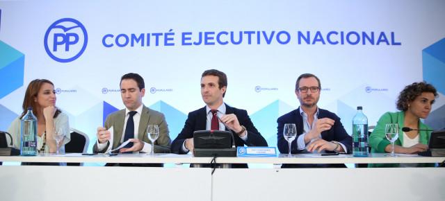 Pablo Casado preside la reunión del Comité Ejecutivo Nacional en Barcelona