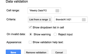 Further data validation