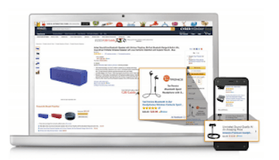 Product display ads for upselling and cross selling