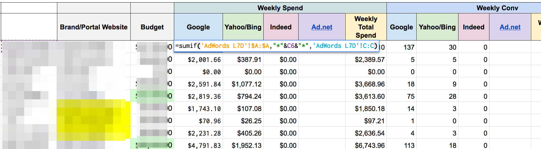 Enter Google Sheets