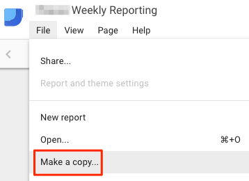 Make a copy of a report to customize as a template