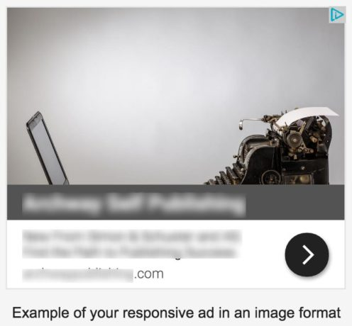 Example of a responsive ad in an image format