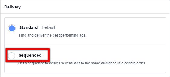 Facebook ad sequencing