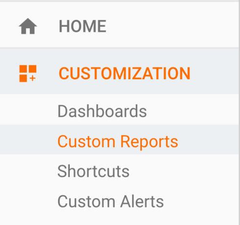 Custom Google Analytics report