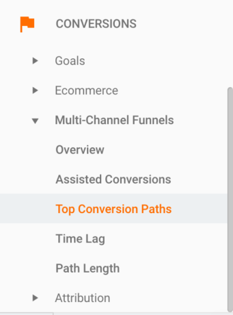 Top conversion paths