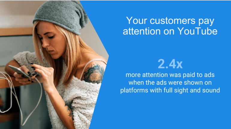 Customer focus on YouTube