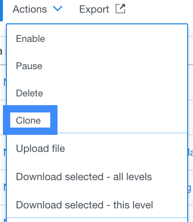 Clone option enables users to copy