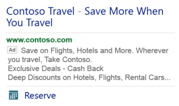Bing Mobile Ad Extensions