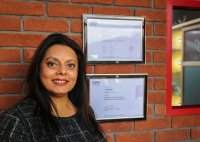 Bal Phillips with her certificates