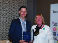 Chris Nelson (left, with Nick Crisp) accepts The Extra Mile Supplier Award for The Laltex Group