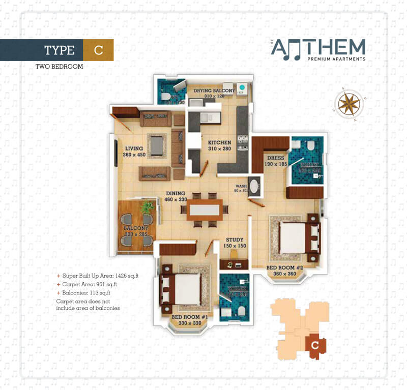 2 BHK Anthem - Prime Property Developers