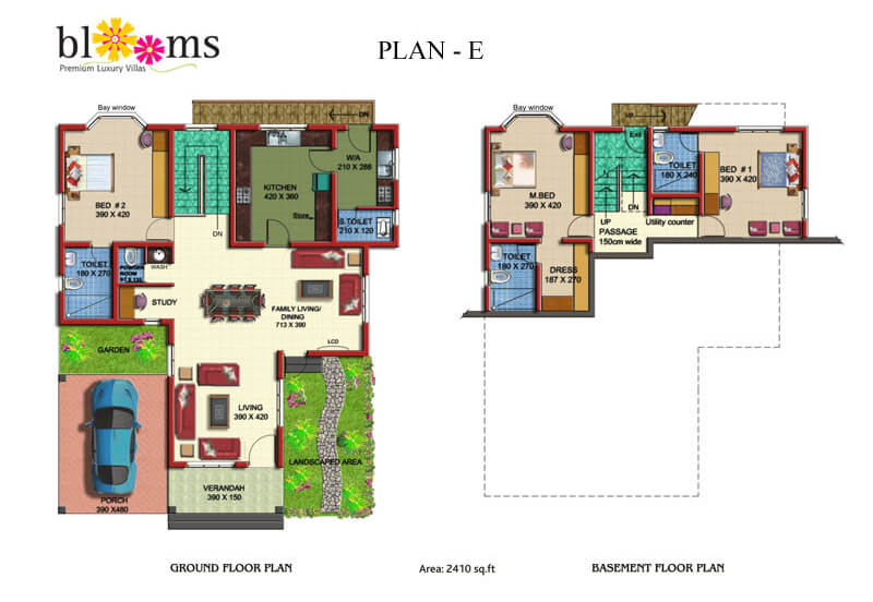 Blooms Floor plan E - Prime Property Developers