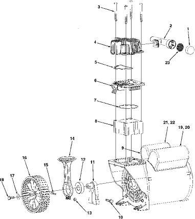 COLEMAN CP0501512 AIR COMPRESSOR PARTS, REPAIR KITS