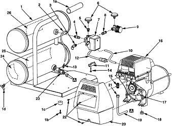 Air Compressor Pilot Unloader Valve, Air, Free Engine