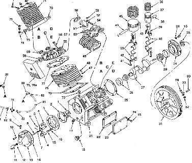 COLEMAN IH991946 AIR COMPRESSOR PARTS, REPAIR KITS