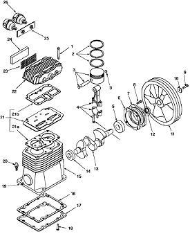 COLEMAN ML6506016 COMPRESSOR MANUALS, PARTS, REPAIR KITS