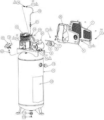 COLEMAN SLA7006056 AIR COMPRESSOR PARTS, REPAIR KITS