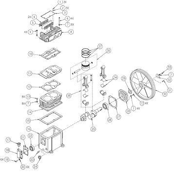COLEMAN SPA0502054 AIR COMPRESSOR PARTS, REPAIR KITS