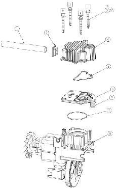 COLEMAN VLH1582609.01 AIR COMPRESSOR PARTS, REPAIR KITS