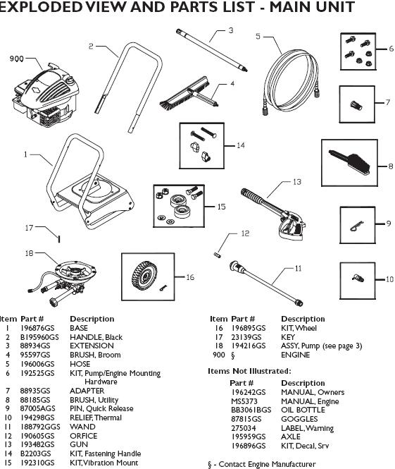 Washer Parts: Task Force 2000 Pressure Washer Parts