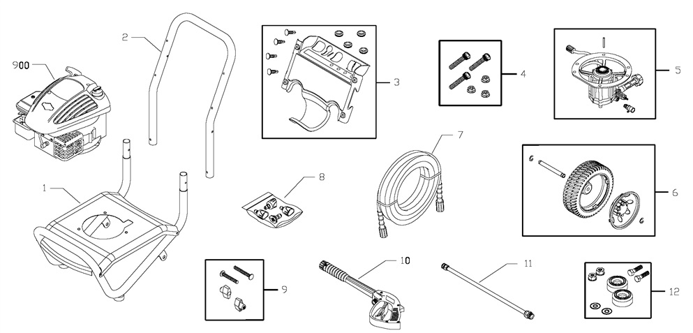 Elite pressure washer model 020305-0 replacement parts