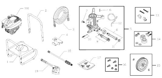 020456-0 MURRAY Replacement Parts, pump breakdown, repair