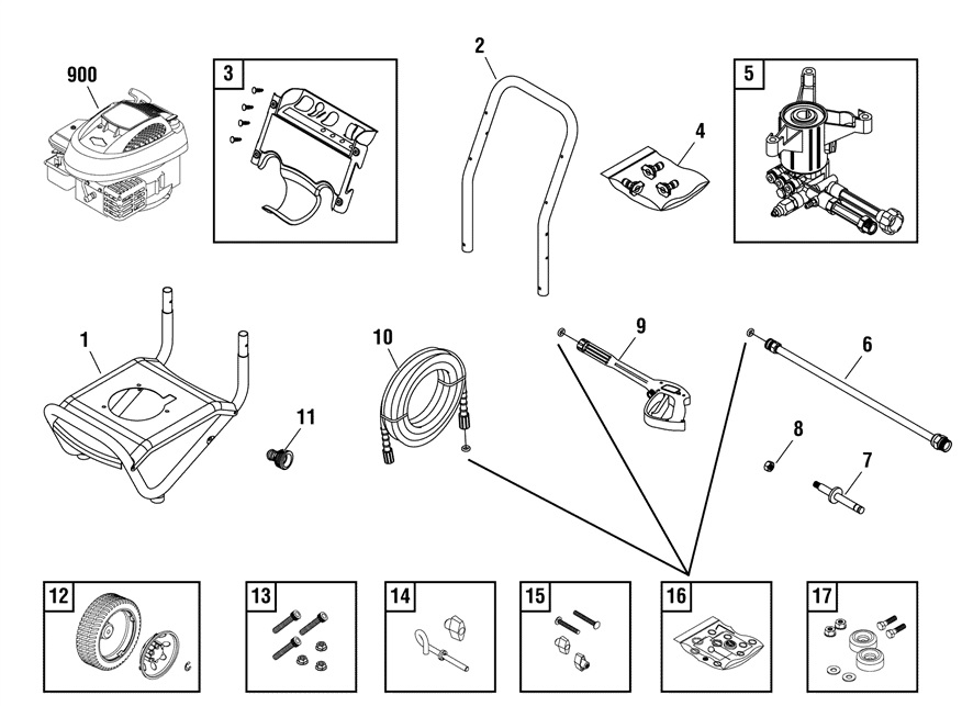 Briggs & Stratton 020536 Pressure Washer Parts