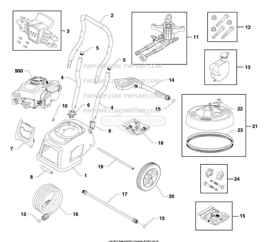 Briggs & Stratton 020685-00 pressure washer Parts