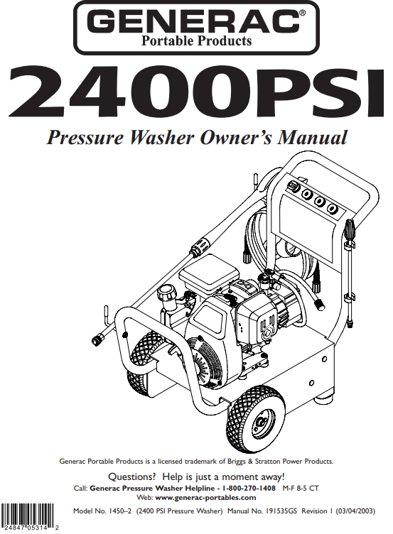 1450-2 Owners Manual