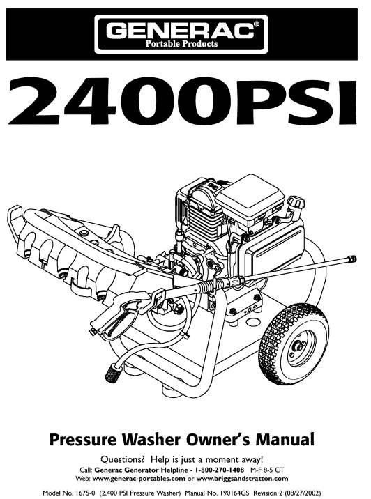 1675 Owners Manual & Breakdown
