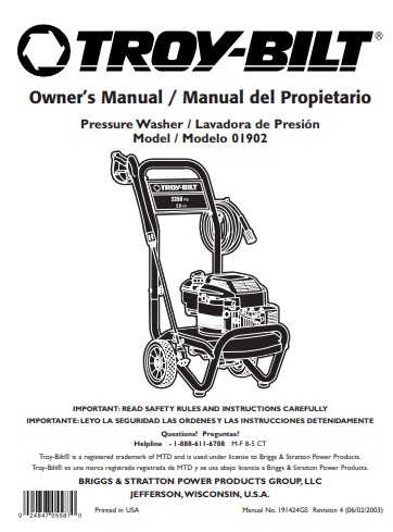 1902 Owners Manual