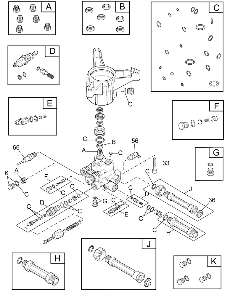 Briggs Pressure Washer model 020473 replacement parts and