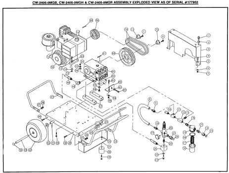 Mi-T-M CW-2405-0MGB,H,R Cold Water Pressure Washer PARTS