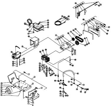 Mi-T-M CW-3006-1ME3 Cold Water Pressure Washer PARTS