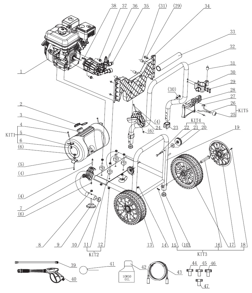 FORD FPWG2700H-J Pressure Washer Parts